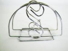 Салфетница нержавейка Восьмёрка 1-й сорт w 13,5 cm h 8 cm