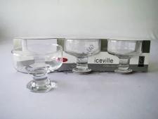 Набор креманок для мороженого Айсвиль из 3-х - h 9 cm