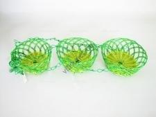 Кашпо пластмасса+соломка подвесное