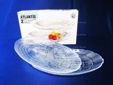 Набор тарелок Атлантис из 2-х овал 15 х 24 см.