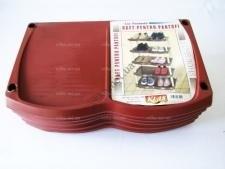 Полка обувная  INCI  коричневая 142 - 48 x 30 x 105 cm