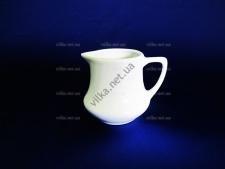 Молочник керамический  белый  выс. 6,5 см д. 5,5 см.
