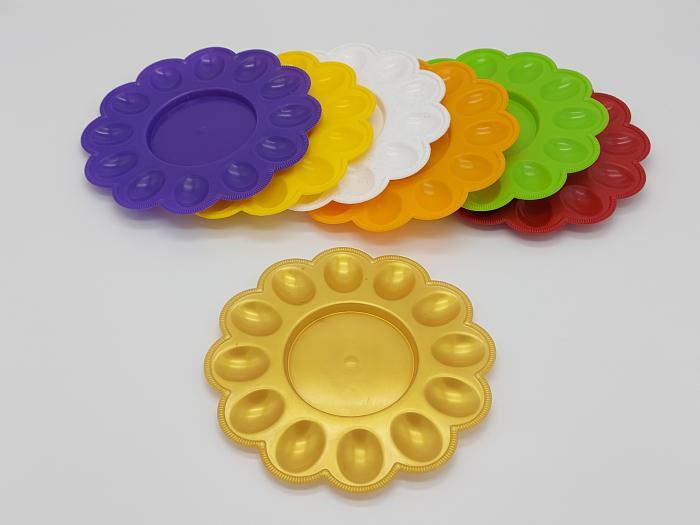 Тарелка пасхальная пластмассовая