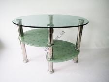 Стол журнальный мини 3-х этажный серебро 59,5 x 36,5 cm, h 43 cm