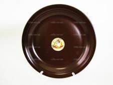 Тарелка мелкая  шоколад   25 см.  С