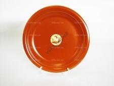 Тарелка мелкая  глина  №10,5  26,7 см.