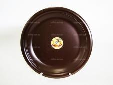 Тарелка мелкая  шоколад № 10,5  26,7 см.