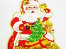 Композиция картонная Дед Мороз 12901