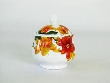 Сахарница керамическая Лилии h 7 cm d 8,5 cm