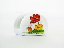 Салфетница керамическая Тюльпаны w 12 cm h 8 cm