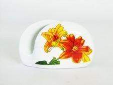 Салфетница керамическая Лилии w 12 cm h 8 cm
