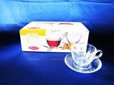 Набор чашек с блюдцем чайным из 6-ти Бейсик