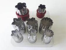 Насадки кондитерские для канапе из 8-ми d 2,5 cm; h 3,5 cm.