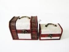 Сундучки в наборе из 2-х  Венеция  18 х 13 х 13 см. ; 15 х 9 х 9 см.