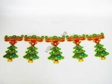 Композиция картонная Вывеска с елками