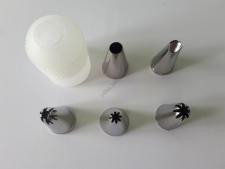 Насадки кондитерские в наборе из 5-ти h 3,8 cm; d 1,9 cm; d 2,2 cm