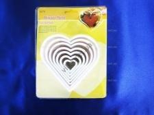 Форма кондитерская  из 7-ми сердец - 2; 3,5 ; 5; 6; 8; 9; 10,5 см.