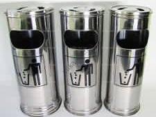 Ведро - пепельница металлическая в наборе из трех 1 - d 25cm, h 58cm; 2 – d 22,5cm, h 57,5cm; 3 – d 21 cm, h 57,5cm