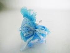 Сувенир свадебный  Коляска голубая 9 см.