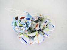 Камешки для аквариума белый камень 2,5 см.
