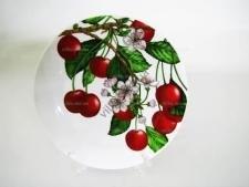 Тарелка  Вишня в цвету  мелкая №9 - 23 см. (12 шт. в уп.)