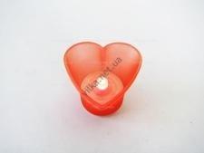 Свеча  Сердце  красная 5,5 х 4 см.