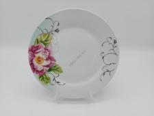 Тарелка круглая  Роза чайная для 2-го №8 - 20,5 см. (12 шт. в уп.)