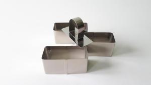 Форма для гарнира в наборе из 3-х (8 х 3,5 х 4 см.)