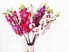 Ветка искусственная Орхидея двухцветная 72 см.
