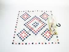Коврик силиконовый квадратный ромбики 52 х 50