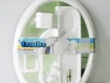 Набор в ванную овал  TOMBO 4 аксессуара 55 х 41 см
