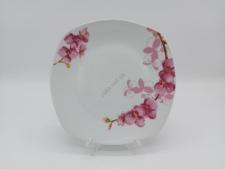 Тарелка квадратная Орхидея для 2-го №9,5 - 21,5 см. (12 шт. в уп.)