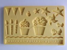 Молд кондитерский силиконовый  Свечи и подарки 12,5 х 19,5 cm