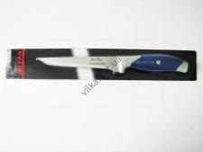 Нож узкий Трамантино  29 см. с синей ручкой