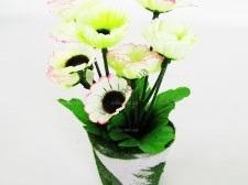 Цветы искусственные в горшочке 17 см. 16057