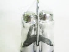 Набор для специй из 3-х нержавеющий (соль+перец+салфетница) h 13 cm