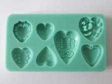 Молд кондитерский силиконовый Сердечки 12,5 х 7 cm.