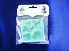 Молд кондитерский силиконовый Сердечки диаметр 7,5 см.