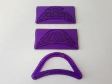 Оттиск кондитерский пластмассовый фиолетовый  Ажурный