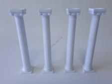 Колонны пластмассовые для торта в наборе из 4-х h 18 cm; t 3 cm.