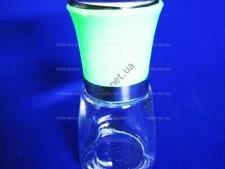 Солонка стеклянная с белой крышкой