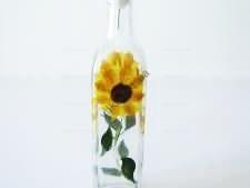 Ёмкость стеклянная  для масла Подсолнух большой 0,7 л.