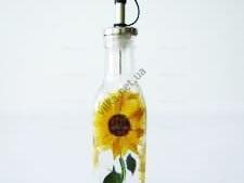 Ёмкость стеклянная для масла Подсолнух средний 0,5 мл.