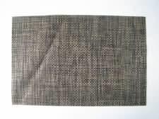 Салфетка под тарелки чёрно-коричневая 45 х 30 см