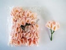 Калла искусственная бледно-розовая 11 см. ( 144 шт. в упаковке )