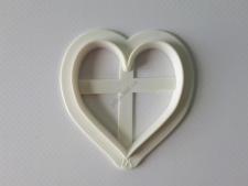 Вырубка кондитерская пластмассовая Сердце 6 см.