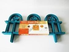 Заборчик садовый пластмассовый из 4-х w 60 cm h 24 cm