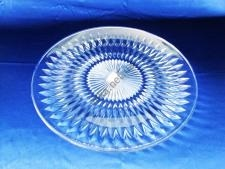 Блюдо пластмассовое прозрачное д. 34 см.