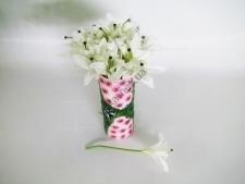 Лилия искусственная белая 28 см.