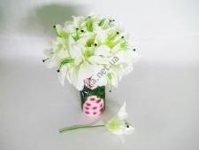 Лилия искусственная белая 28 см. 16634